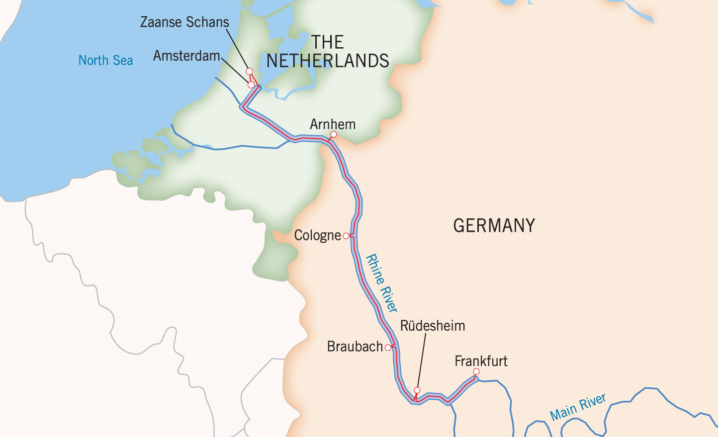 Rhine River World Map Ma - Rhine river location