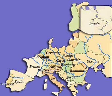 Major Rivers In Europe Map.Map 2016 Map Of Europe River
