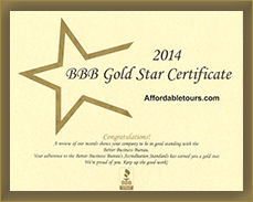 BBB Gold Star Certificate Award