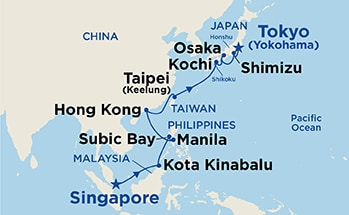 Itinerary Map/Ship Image