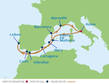 Celebrity Cruises Silhouette 12 Night Western Mediterranean Cru
