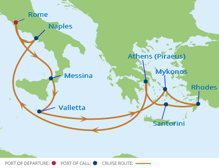 Celebrity Cruises Celebrity Reflection 10 Night Italy