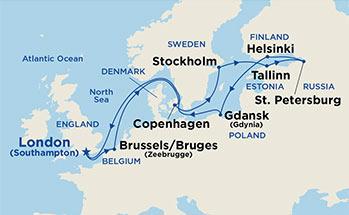Princess Cruises Sapphire Princess Night Baltic Heritage - Baltic cruise