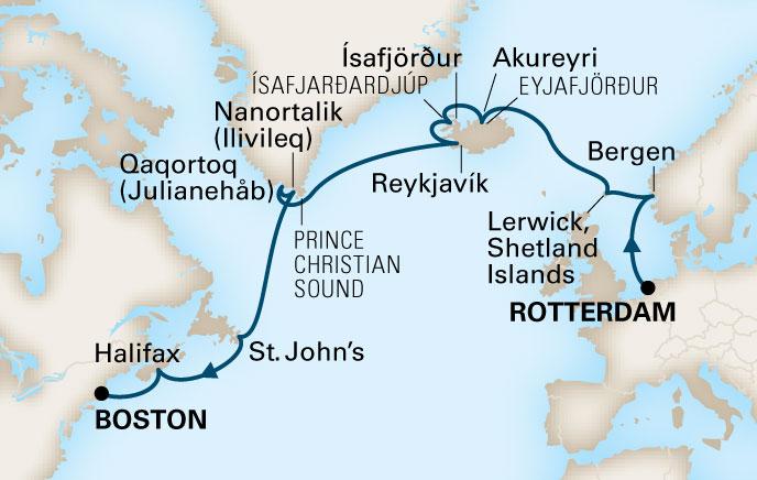 Holland america cruises rotterdam 18 day viking passage sat map thumbnail click to enlarge map sciox Gallery