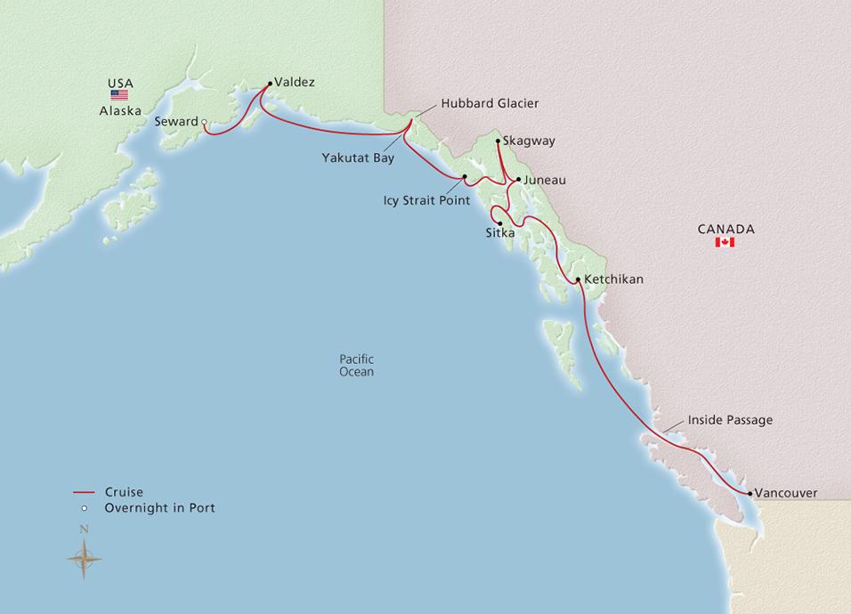 Icy Strait Point Alaska Map.Viking Cruises Viking Orion Alaska The Inside Passage