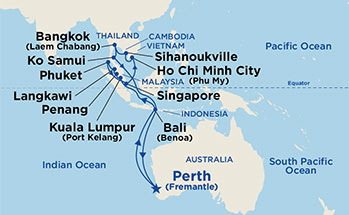 Low Unpublished Prices On Princess - 26 Night Southeast Asia Grand Adventure