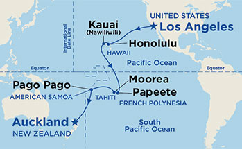 Low unpublished prices on princess 20 night hawaii tahiti south pacific crossing map thumbnail click to enlarge map gumiabroncs Choice Image
