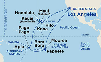 Princess Cruises Star Princess 28 Night Hawaii Tahiti Samoa