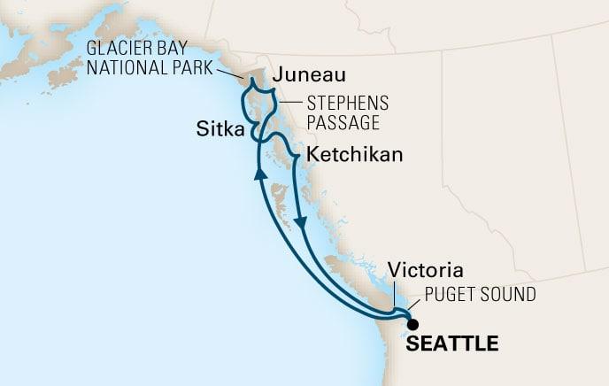 Holland America Cruises - Eurodam - 7-day Alaskan Explorer - Sat ...