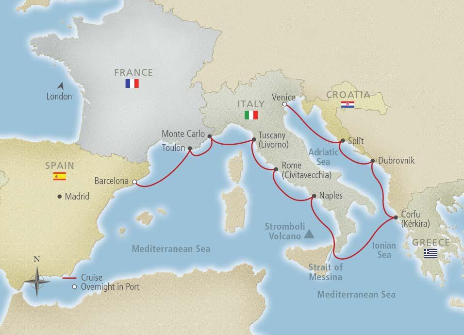 Viking Cruises - Viking Jupiter - Mediterranean Odyssey (Venice to ...