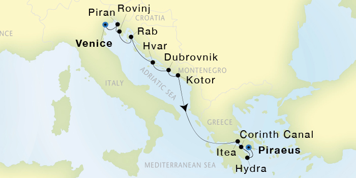 Seadream Yacht Club Cruises Seadream I 10 Night Venice To Athens