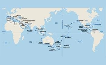 Itinerary Map/Ship Image