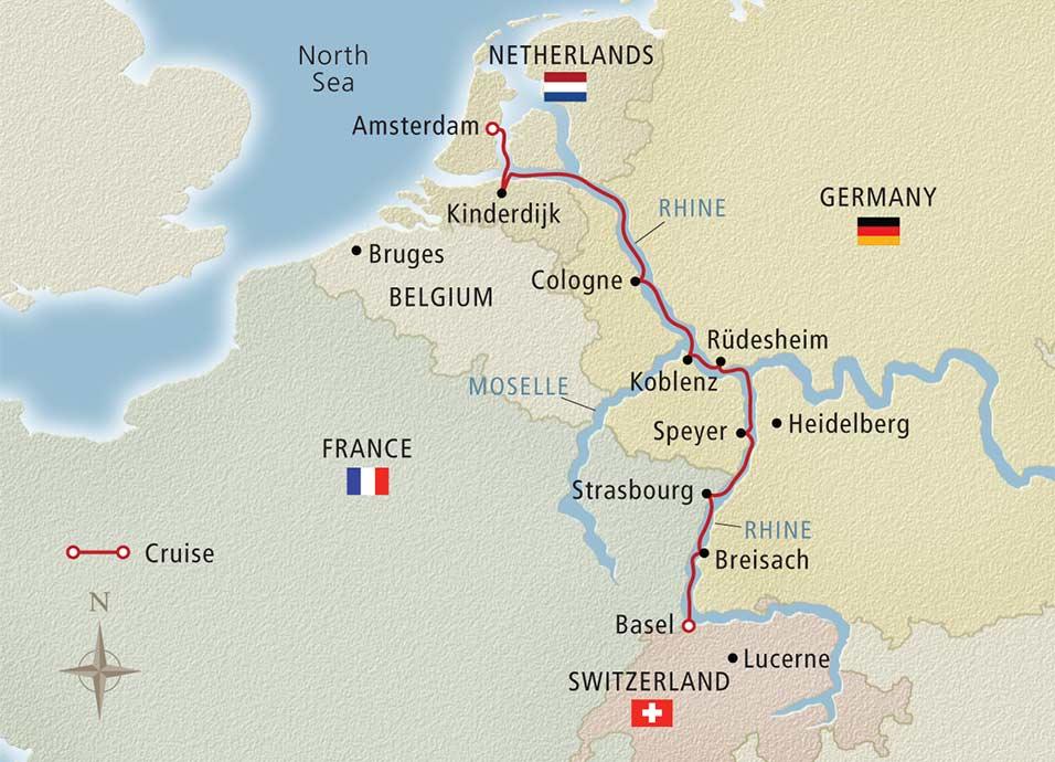 Viking River Cruises  Viking Alruna  Rhine Getaway  Basel to