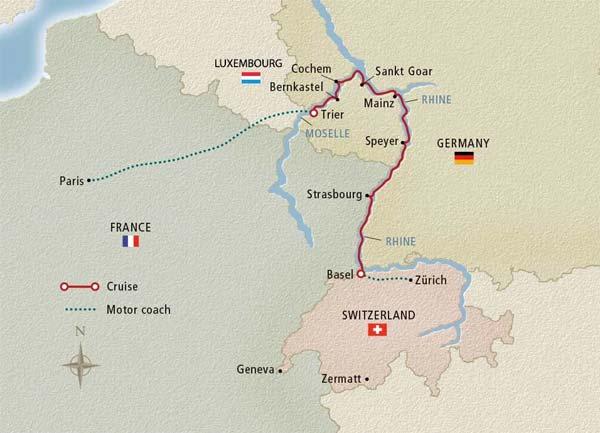 Viking River Cruises Viking Hild Paris To The Swiss