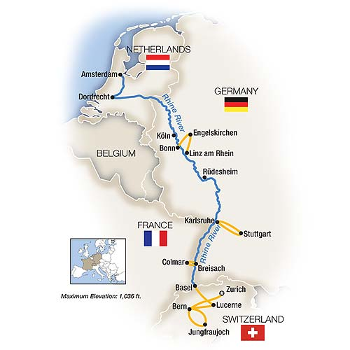Tauck River Cruises MS Inspire The Rhine Swiss Alps - Swiss river to the rhine