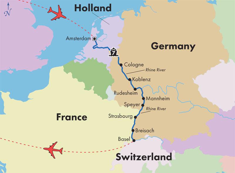 Gate1 River Cruises : Monarch Countess : 11 Day Rhine River Cruise