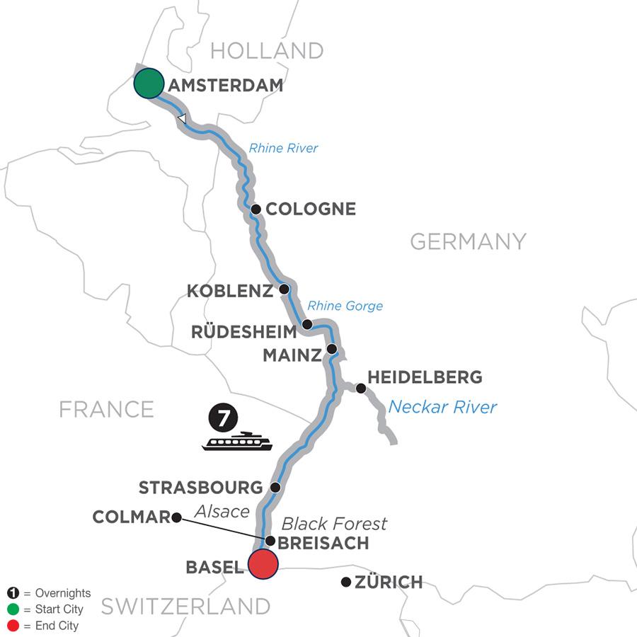 Breisach Germany Map.Avalon Waterways River Cruises Vista Romantic Rhine Southbound