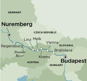 Map Of Germany Nuremberg.Low Unpublished Prices On Crystal Grand Danube Celebration Budapest To Nuremberg 2019