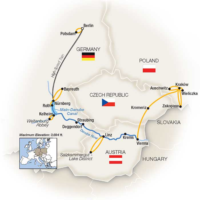 Low Unpublished Prices On Tauck - Royal Danube, Berlin & Kraków - Eastbound  2020