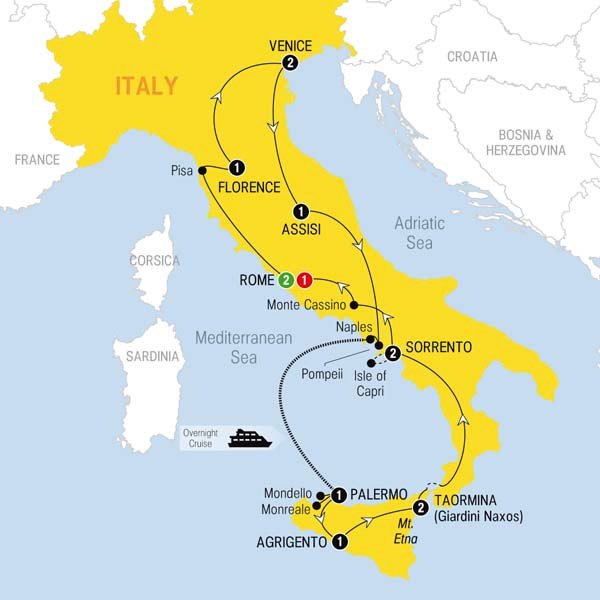 Reviews of escorted tours in italy