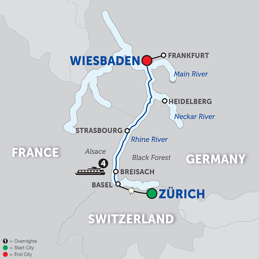 Breisach Germany Map.Globus Tours Christmastime In Alsace Germany Northbound 2018
