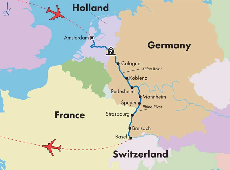 Gate1 Tours 9 Day Rhine River Cruise Basel To Amsterdam
