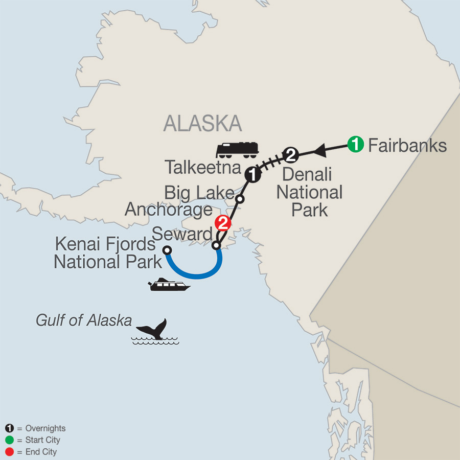 Globus Tours Natures Best Alaska 2018