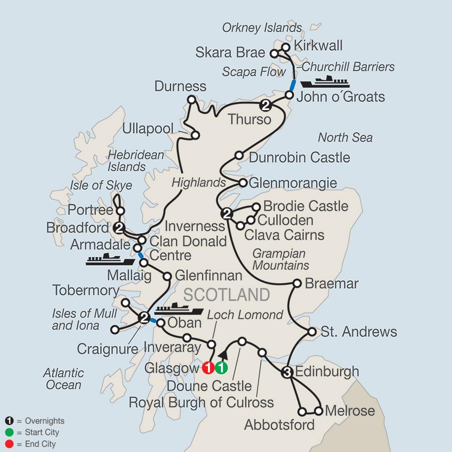 Globus Tours Scottish Highlands Amp Islands 2018