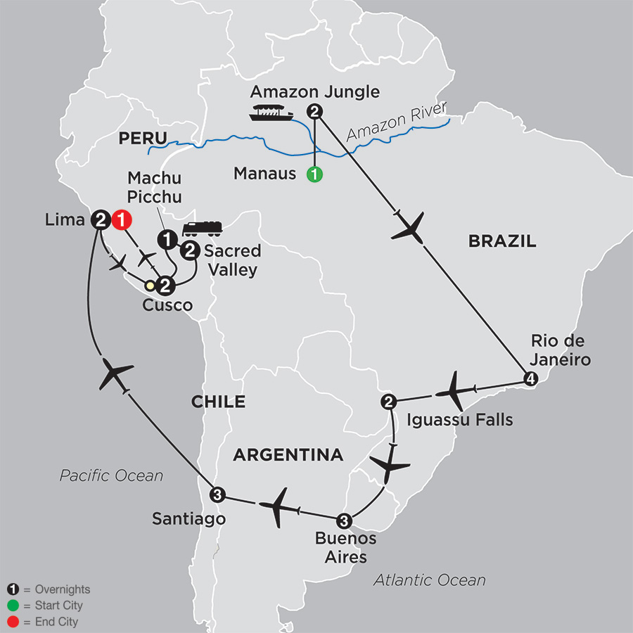 Cosmos tours brazil argentina chile unveiled with brazils click to enlarge map gumiabroncs Gallery