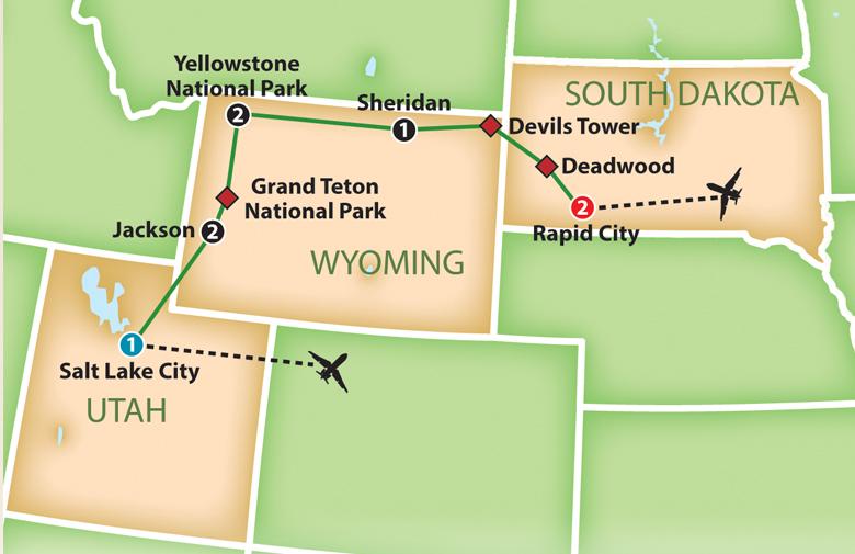 Mayflower Tours: Yellowstone, Grand Tetons and Mt. Rushmore
