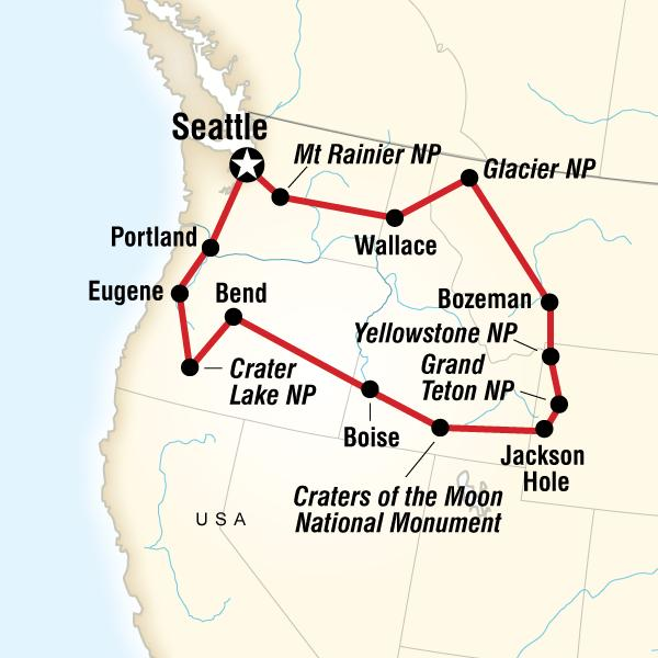 G Adventures Tours: National Parks of the Northwest US