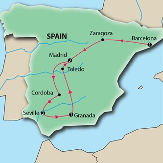 Key Tours Barcelona Andalusia and Madrid Spain Escorted VacationD