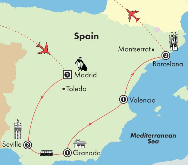 10 Day Affordable Spain - Thursday Departure