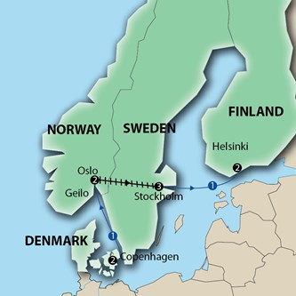 Key tours scandinavian capitals denmark norway sweden finland multi click to enlarge map gumiabroncs