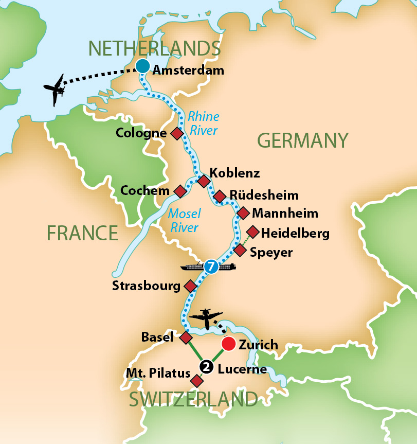 Mosel River Germany Map.Mayflower Tours Romantic Rhine And Mosel River Cruise 2019
