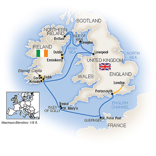 Ireland And England Map.Tauck Tours Treasures Of The British Irish Isles Westbound 2019