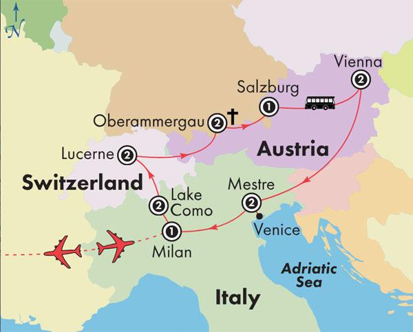 Gate1 Tours 14 Day Oberammergau With Northern Italy Switzerland