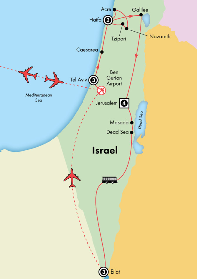 Gate1 Tours: 14 Day Deluxe Israel with Eilat