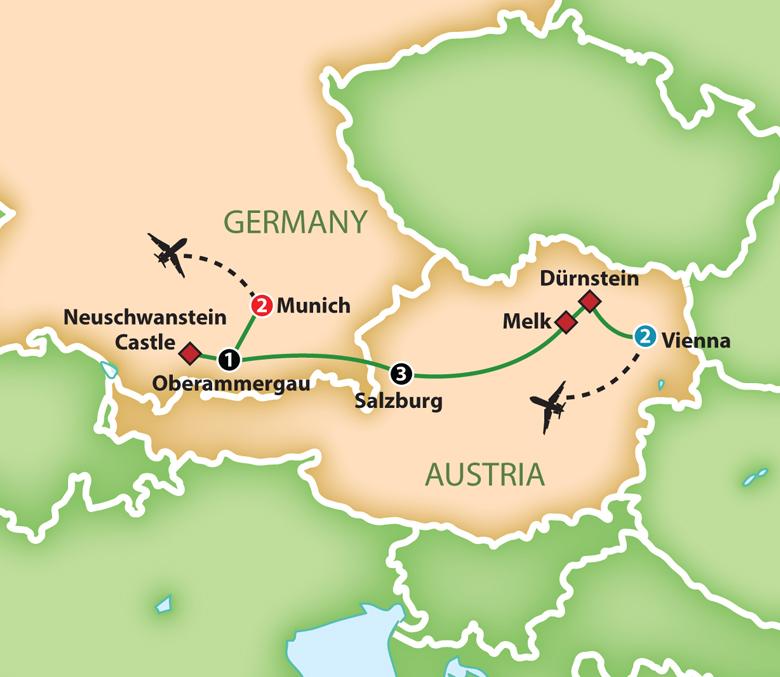 Oberammergau Germany Map.Mayflower Tours Oberammergau Passion Play 2020