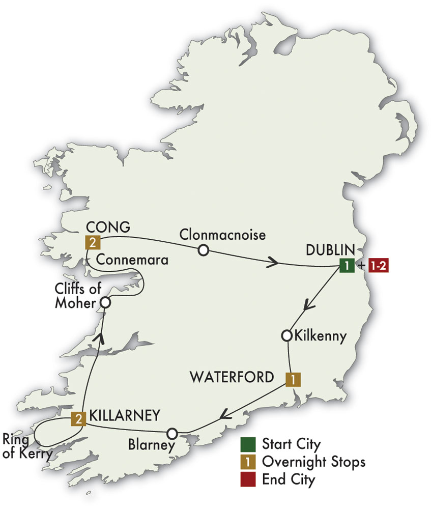 Cie Tours 2019 The Spirit Of Ireland 9 Days 8 Nights