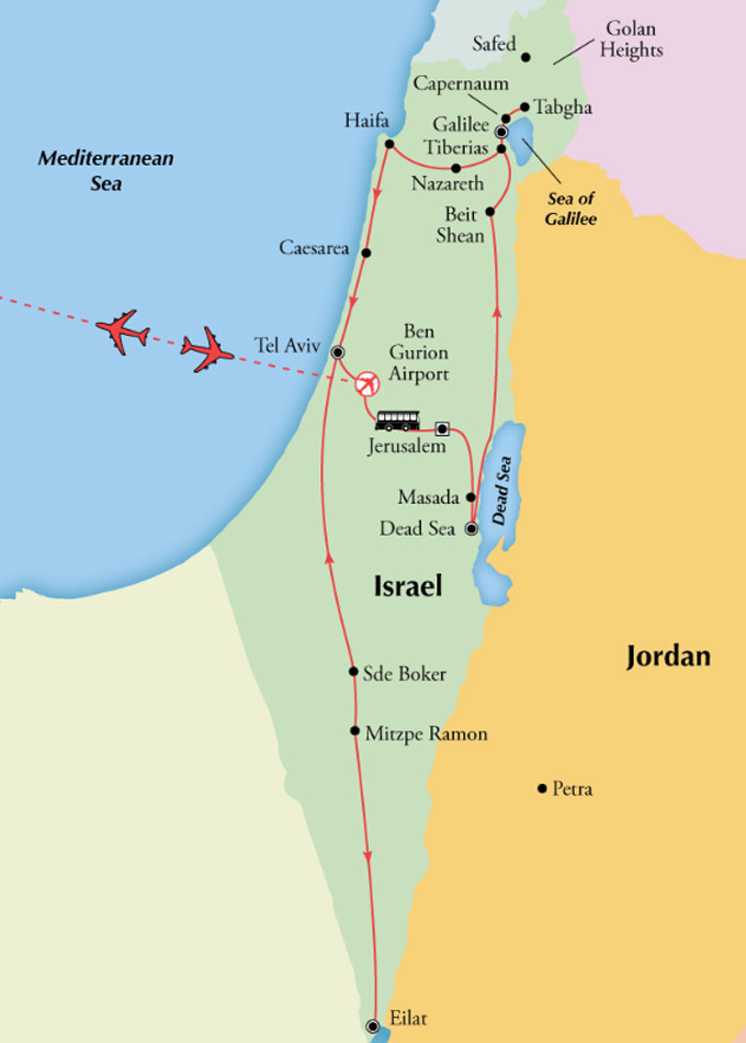 Gate1 Tours: 15 Day Classic Israel with Eilat