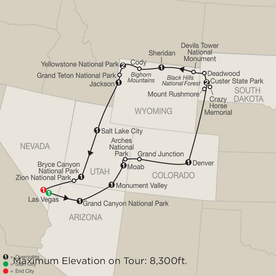 Map Of North America Yellowstone National Park.Low Unpublished Prices On Globus Exploring America S Great Parks 2019