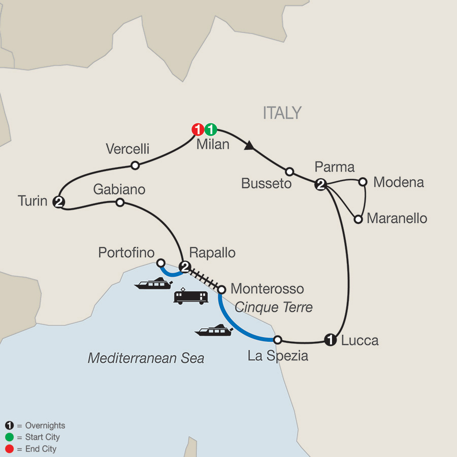 Map Of Northern Italy Cities.Low Unpublished Prices On Globus Northern Italy S Highlights Cinque Terre 2019