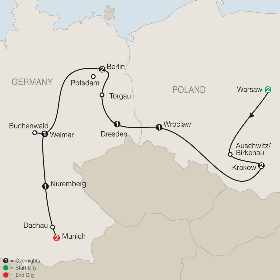Ww2 Poland Map.Globus Tours Poland East Germany World War Ii 2019