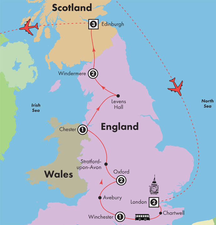 Map Of England Castles.Low Unpublished Prices On Discovery By Gate1 13 Day England Scotland Castles Countryside