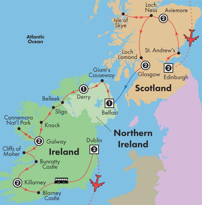 Gate1 Tours 16 Day Scotland Ireland Monday Departure