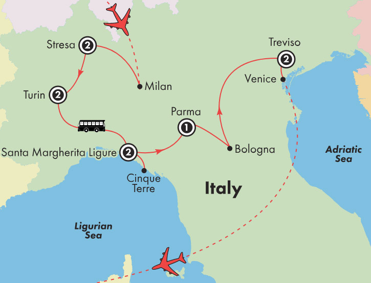 Discovery By Gate1 Tours 11 Day Cinque Terre Parma Bologna Lakes