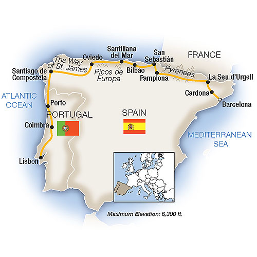 Map Of Northern Portugal And Spain.Low Unpublished Prices On Tauck Paradors Of Northern Spain 2019