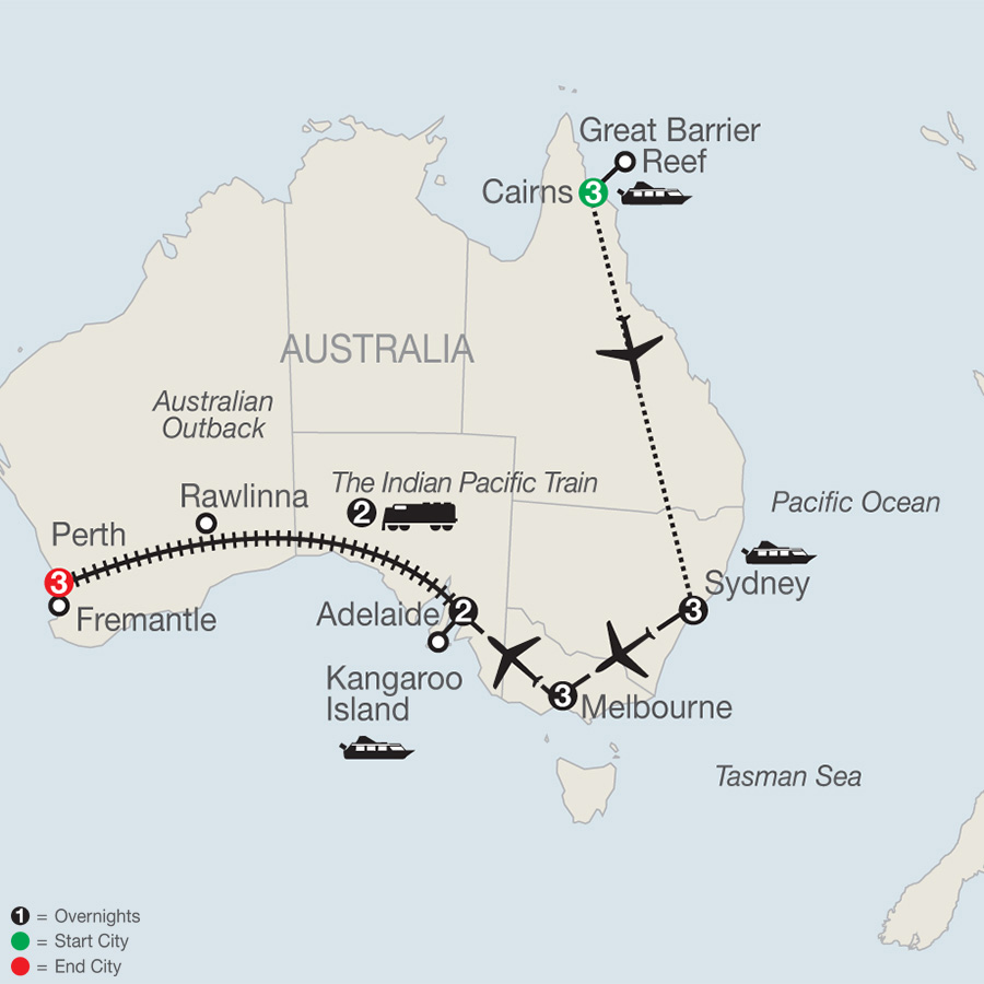 Globus Tours: Across Australia By Train With The Great Barrier Reef ...