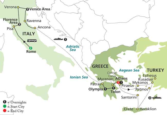 Low Unpublished Prices On Cosmos - Italy & Greece with Aegean Cruise in  Outside Stateroom 2019